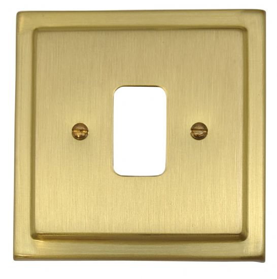 G&H Trimline Plate Satin Brushed Brass